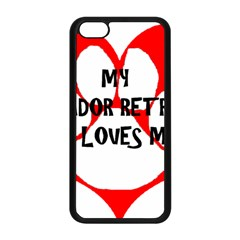 My Lab Loves Me Apple iPhone 5C Seamless Case (Black)