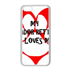 My Lab Loves Me Apple iPhone 5C Seamless Case (White)