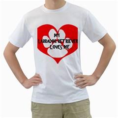 My Lab Loves Me Men s T-Shirt (White)