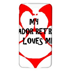 My Lab Loves Me Samsung Galaxy S5 Back Case (White)