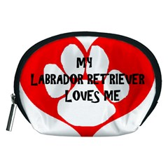 My Lab Loves Me Accessory Pouches (Medium)