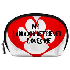 My Lab Loves Me Accessory Pouches (Large)