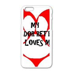 My Lab Loves Me Apple iPhone 6/6S White Enamel Case