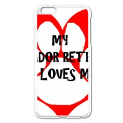 My Lab Loves Me Apple iPhone 6 Plus/6S Plus Enamel White Case