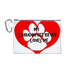 My Lab Loves Me Canvas Cosmetic Bag (M)