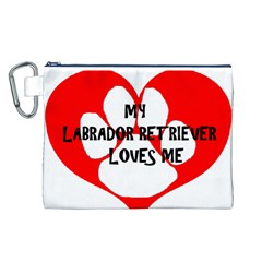 My Lab Loves Me Canvas Cosmetic Bag (L)