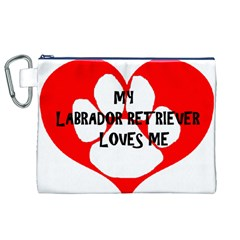 My Lab Loves Me Canvas Cosmetic Bag (XL)