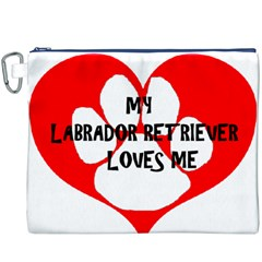 My Lab Loves Me Canvas Cosmetic Bag (XXXL)