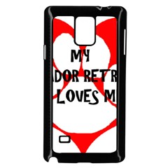 My Lab Loves Me Samsung Galaxy Note 4 Case (Black)
