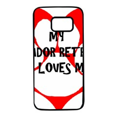 My Lab Loves Me Samsung Galaxy S7 Black Seamless Case