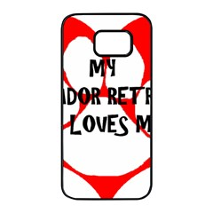 My Lab Loves Me Samsung Galaxy S7 edge Black Seamless Case