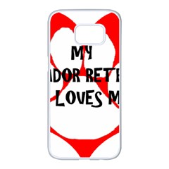 My Lab Loves Me Samsung Galaxy S7 edge White Seamless Case