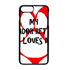 My Lab Loves Me Apple iPhone 7 Plus Seamless Case (Black)
