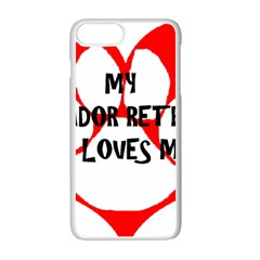 My Lab Loves Me Apple iPhone 7 Plus White Seamless Case