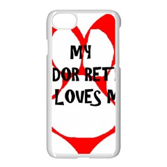 My Lab Loves Me Apple iPhone 7 Seamless Case (White)
