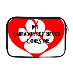 My Lab Loves Me Apple MacBook Pro 17  Zipper Case