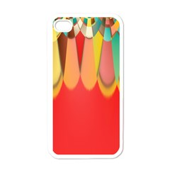Colors On Red Apple Iphone 4 Case (white)