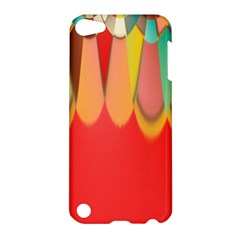 Colors On Red Apple iPod Touch 5 Hardshell Case