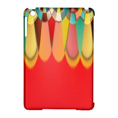 Colors On Red Apple iPad Mini Hardshell Case (Compatible with Smart Cover)