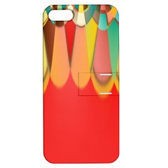Colors On Red Apple iPhone 5 Hardshell Case with Stand