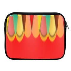 Colors On Red Apple iPad 2/3/4 Zipper Cases