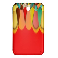 Colors On Red Samsung Galaxy Tab 3 (7 ) P3200 Hardshell Case