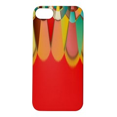 Colors On Red Apple iPhone 5S/ SE Hardshell Case