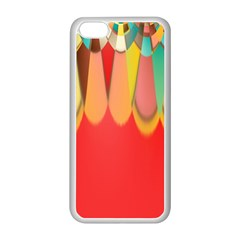 Colors On Red Apple iPhone 5C Seamless Case (White)