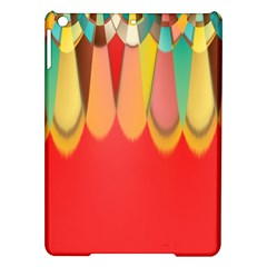 Colors On Red iPad Air Hardshell Cases