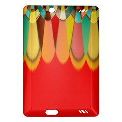 Colors On Red Amazon Kindle Fire HD (2013) Hardshell Case