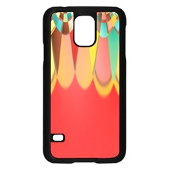 Colors On Red Samsung Galaxy S5 Case (Black)