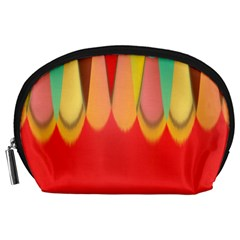 Colors On Red Accessory Pouches (Large)