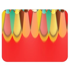 Colors On Red Double Sided Flano Blanket (Medium)