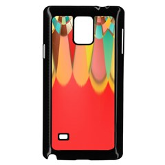 Colors On Red Samsung Galaxy Note 4 Case (black)