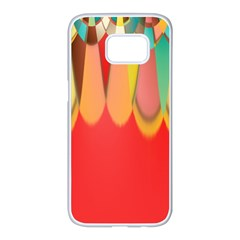 Colors On Red Samsung Galaxy S7 Edge White Seamless Case
