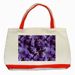 Purple Paint Strokes Classic Tote Bag (Red)