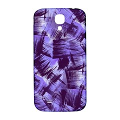 Purple Paint Strokes Samsung Galaxy S4 I9500/I9505  Hardshell Back Case