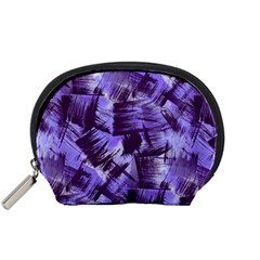 Purple Paint Strokes Accessory Pouches (Small)