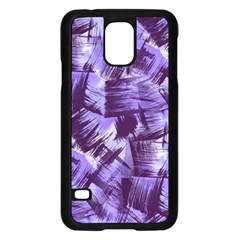 Purple Paint Strokes Samsung Galaxy S5 Case (Black)