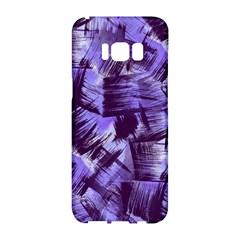 Purple Paint Strokes Samsung Galaxy S8 Hardshell Case