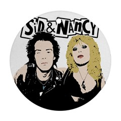 Sid and Nancy Round Ornament (Two Sides)
