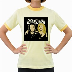 Sid and Nancy Women s Fitted Ringer T-Shirts