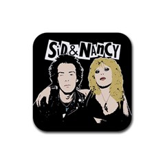 Sid and Nancy Rubber Square Coaster (4 pack)