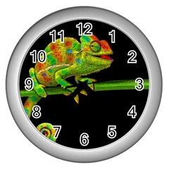 Chameleons Wall Clocks (Silver)