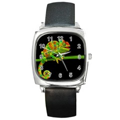 Chameleons Square Metal Watch