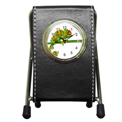 Chameleons Pen Holder Desk Clocks