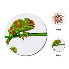 Chameleons Playing Cards (Round)