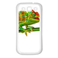 Chameleons Samsung Galaxy S3 Back Case (White)
