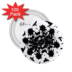 Black roses and ravens  2.25  Buttons (100 pack)