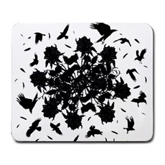 Black roses and ravens  Large Mousepads